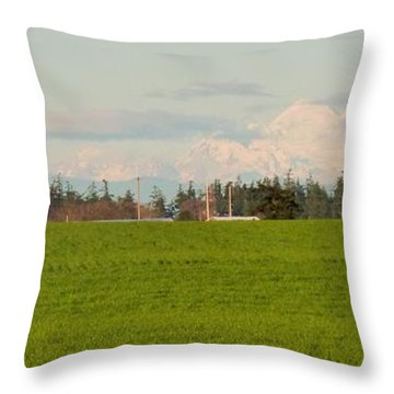 Bucolic Beauty By Ebey's Landing Throw Pillow