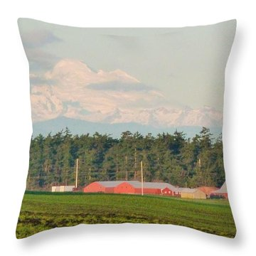 Bucolic Beauty By Ebey's Landing II Throw Pillow