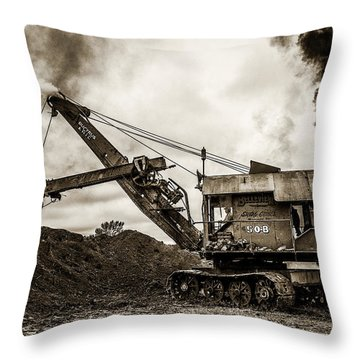 Bucyrus Erie Shovel Throw Pillow by Paul Freidlund