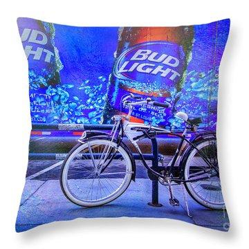 Bud Light Schwinn Bicycle Throw Pillow