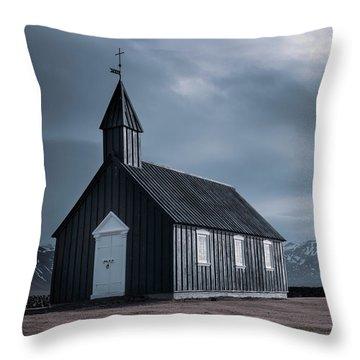 Budakirkja, The Black Church Throw Pillow
