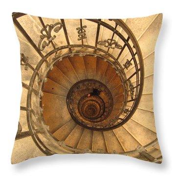 Budapest Staircase Throw Pillow