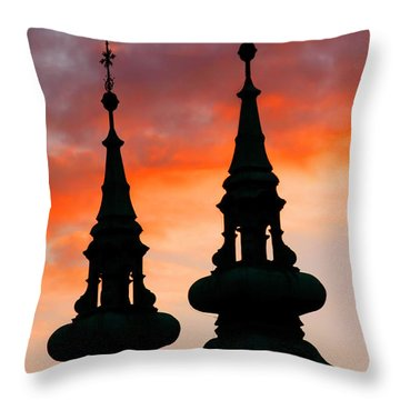 Throw Pillow featuring the photograph Budapest Sunset by KG Thienemann