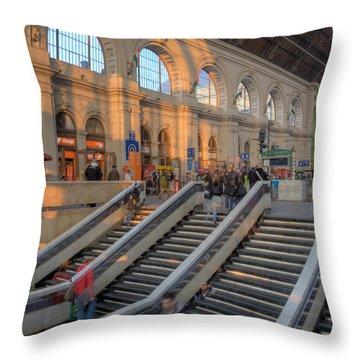 Budapest Train Station 2 Throw Pillow