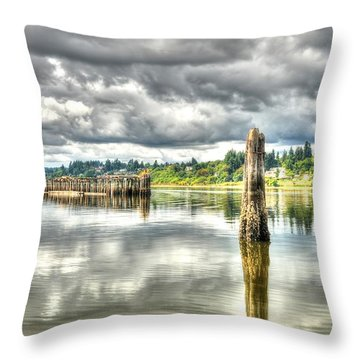 Budd Bay Piers Throw Pillow