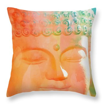 Throw Pillow featuring the photograph Buddah Glow by Cindy Greenstein