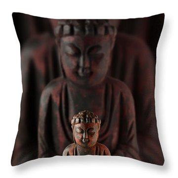 Buddah With Lotus Flower Throw Pillow