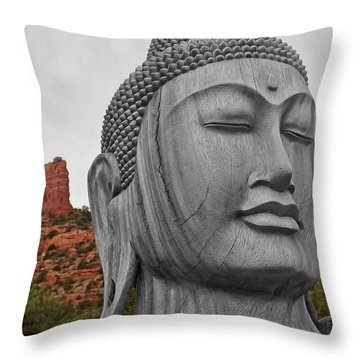 Buddha 3 Throw Pillow