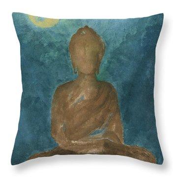 Buddha Abstract Throw Pillow