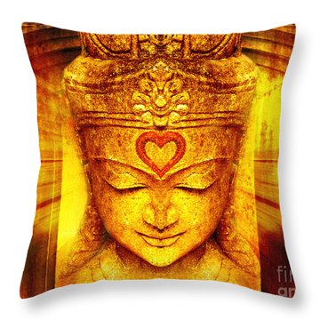 Buddha Entrance Throw Pillow