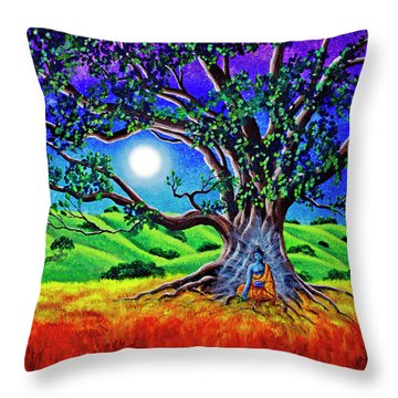 Buddha Healing The Earth Throw Pillow