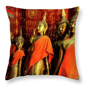 Throw Pillow featuring the photograph Buddha Laos 2 by Bob Christopher