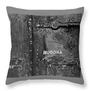 Buddha Throw Pillow by Laurie Stewart