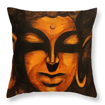 Buddha-licious Throw Pillow