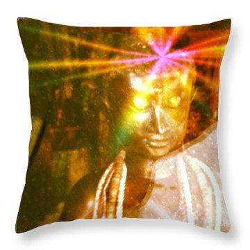 Buddha Light Throw Pillow