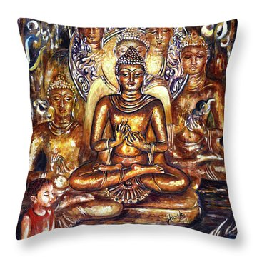 Buddha Reflections Throw Pillow