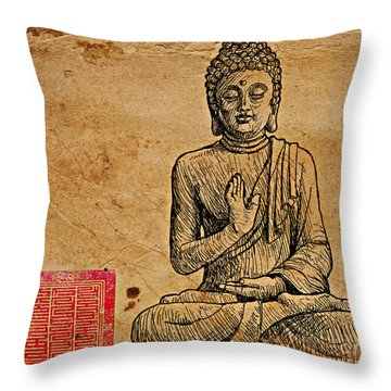 Buddha The Minimalist Throw Pillow