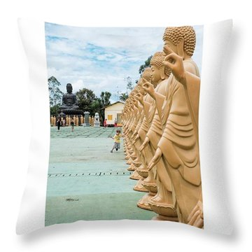 Buddhist Temple In Foz Do Iguaçu Throw Pillow