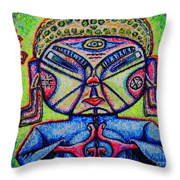 Buddhist/sketch/ Throw Pillow