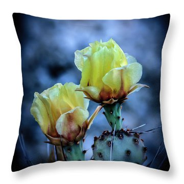 Throw Pillow featuring the photograph Budding Prickly Pear Cactus by Robert Bales