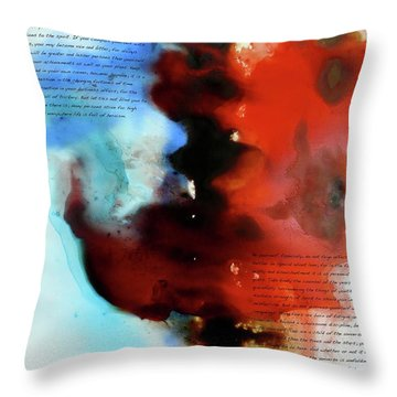 Budding Romance Throw Pillow