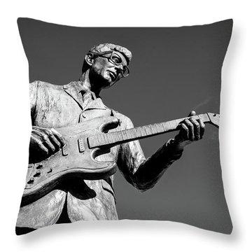 Buddy Holly 4 Throw Pillow