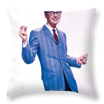Buddy Holly Promotional Photo. Throw Pillow