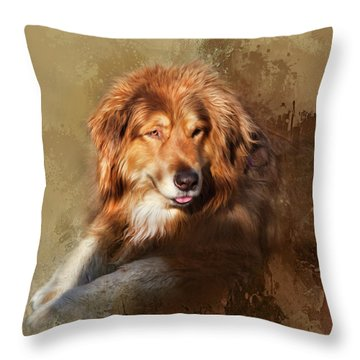 Buddy Throw Pillow by Theresa Tahara