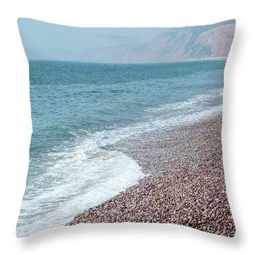Budleigh Seascape II Throw Pillow