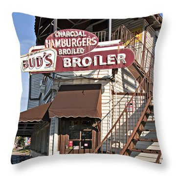 Bud's Broiler New Orleans Throw Pillow by Kathleen K Parker