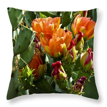 Buds N Blossoms Throw Pillow