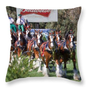 Budweiser Clydesdales Perfection Throw Pillow