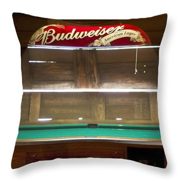 Budweiser Light Pool Table Throw Pillow