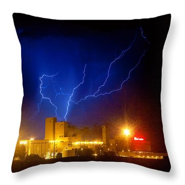 Budweiser Powered By Lightning Throw Pillow by James BO  Insogna