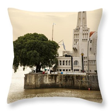 Buenos Aires Lighthouse Throw Pillow