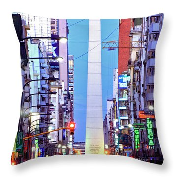 Buenos Aires Obelisk Throw Pillow by Bernardo Galmarini