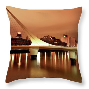 Buenos Aires On Fire Throw Pillow by Bernardo Galmarini