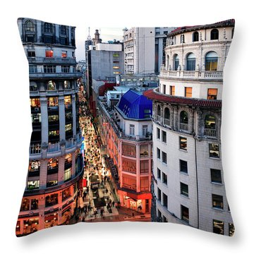 Buenos Aires Street I Throw Pillow by Bernardo Galmarini