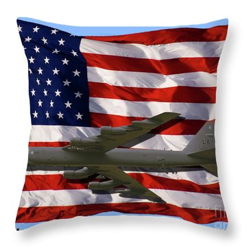 Buff And Flag Throw Pillow by Tim Mulina