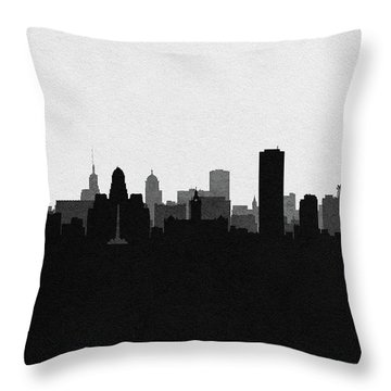 Buffalo Cityscape Art Throw Pillow