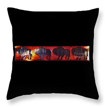 Throw Pillow featuring the photograph Fire On The Plains by Larry Campbell
