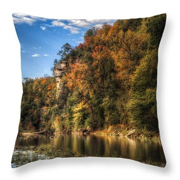 Buffalo National River Throw Pillow by James Barber