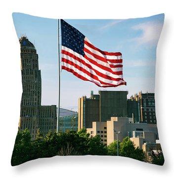 Buffalo Ny All American City Throw Pillow