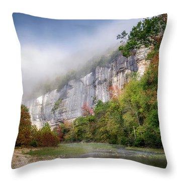 Buffalo River Autumn Throw Pillow by James Barber