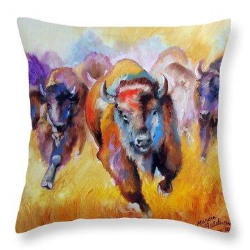 Buffalo Run 16 Throw Pillow