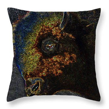 Buffalo Vision Throw Pillow by David Lee Thompson