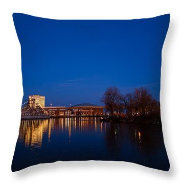 Buffalo Waterfront Twilight Throw Pillow