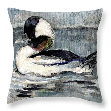 Bufflehead Throw Pillow