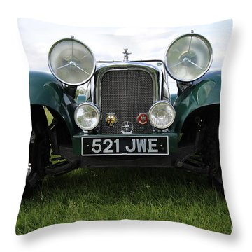 Bug Eye Jaguar Throw Pillow