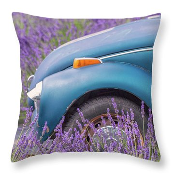 Throw Pillow featuring the photograph Bug In Lavender Field by Patricia Davidson